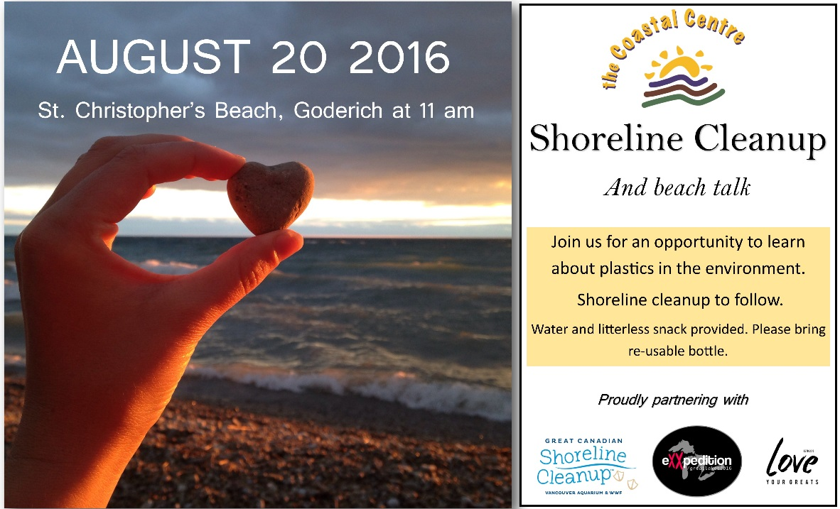Shoreline cleanup poster Aug 2016 2